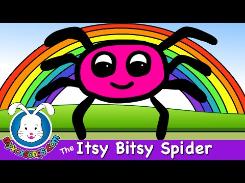 The Itsy Bitsy Spider with lyrics | Nursery Rhymes for Baby & kids
