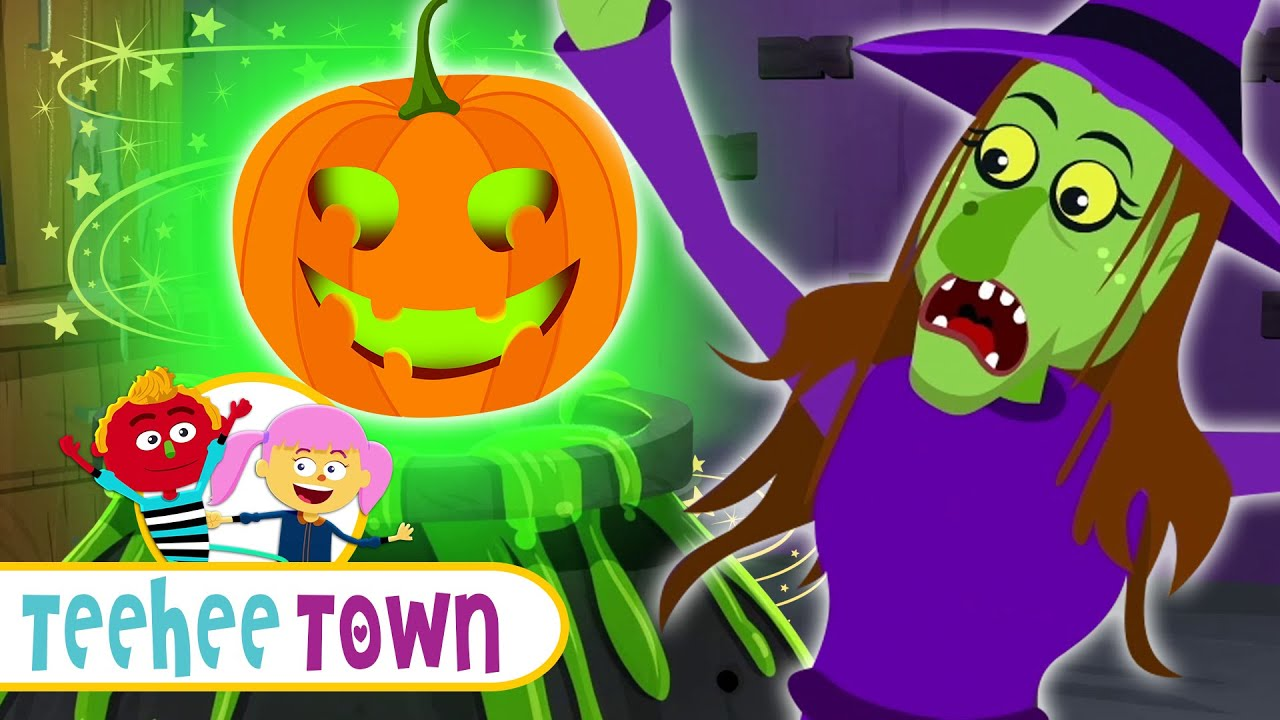 The Haunted Pumpkin & Creepy Witch | Funny Spooky Song For Kids By Teehee Town