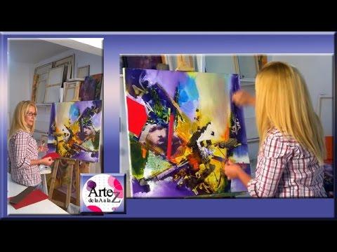 Como hacer collage sobre pintura en bastidor youtube - Cuadros en bastidor ...