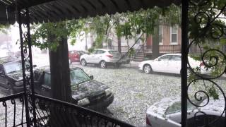 Hail Storm in Reading Pennsylvania