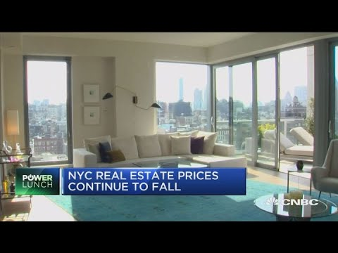 NYC real estate continues to fall