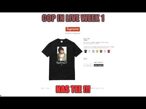HO COMPRATO LA NAS TEE!! (supreme week 1 cop in live)