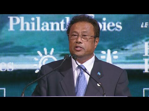 Palau President Tommy Remengesau at the Climate Summit for Local Leaders
