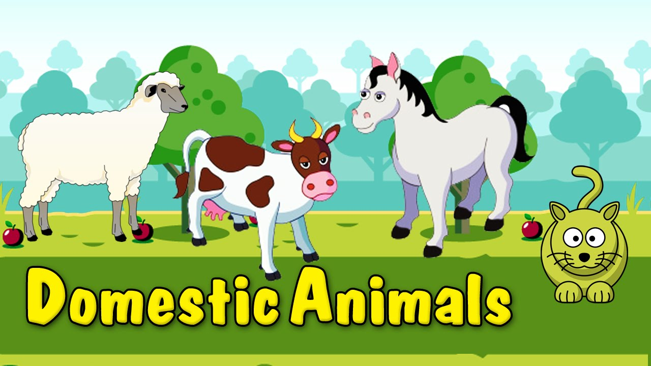 Image of: Movie Learn Domestic Animals Animated Video For Kids English Animation Video For Children Youtube Youtube Learn Domestic Animals Animated Video For Kids English Animation