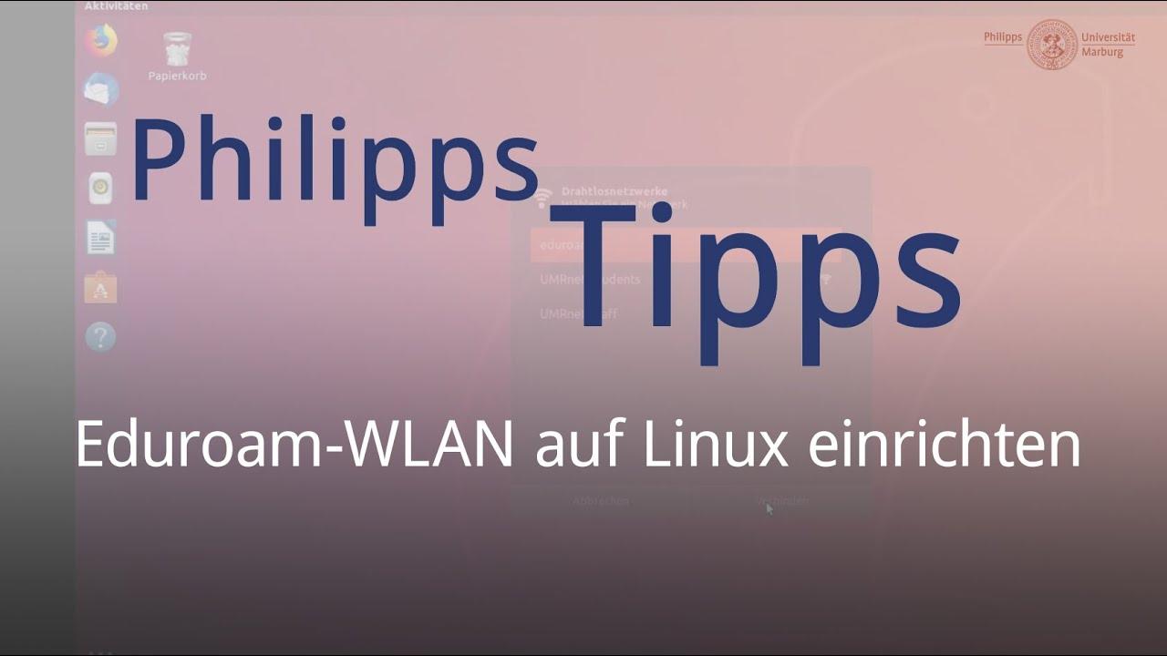 Eduroam-WLAN auf Linux einrichten
