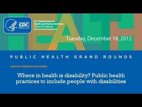 Where In Health Is Disability? Public Health Practices To Include People With Disabilities