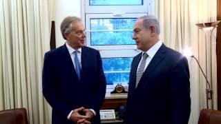 بالفيديو.. 'بلير' يشيد بزيارة 'شكري' لإسرائيل عقب لقائه بـ'نتنياهو'