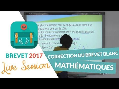 Correction du Brevet Blanc de Mathématiques en live avec digiSchool