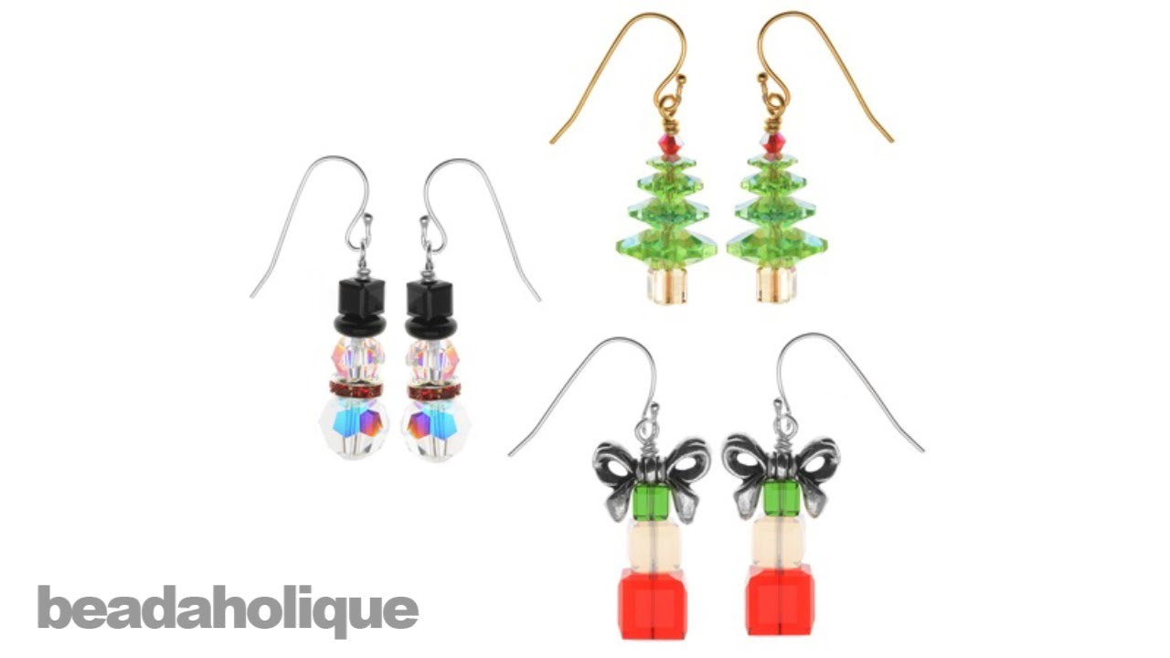 Instructions for Making the Crystal Christmas Earring Set Kit - YouTube