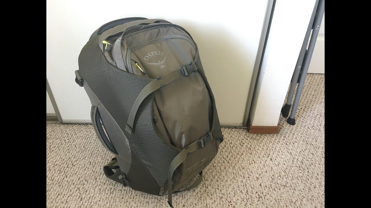 outlet winkel voorbeeld van gedetailleerde foto's Osprey Porter 46 (2018 model) travel backpack review