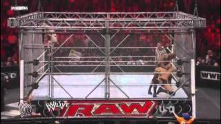 Steel Cage Match: Sheamus vs. Wade Barrett vs. Randy Orton [RAW 3.1.11] [part 1/2] [HD] [PL]
