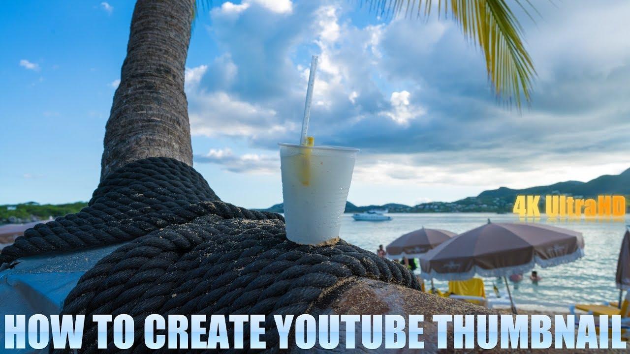 how to create youtube thumbnail image