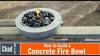 DIY Concrete Fire Bowl ; Simple Build!