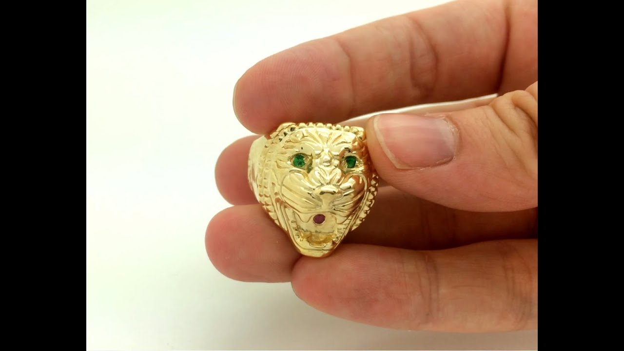 Lion Gold Ring Designs