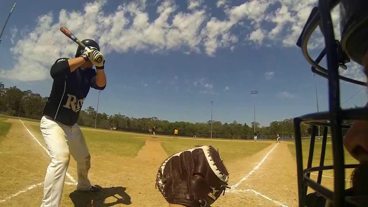 Baseball Pinehills Vs Redlands GoPro Attached To Side Of