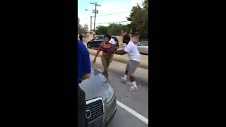 Road Rage and girl hit old man with her car...