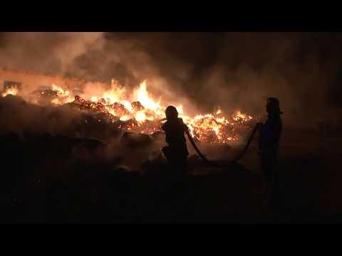 TV7plus: В Старокостянтинові згоріло 1200 тонн коноплі