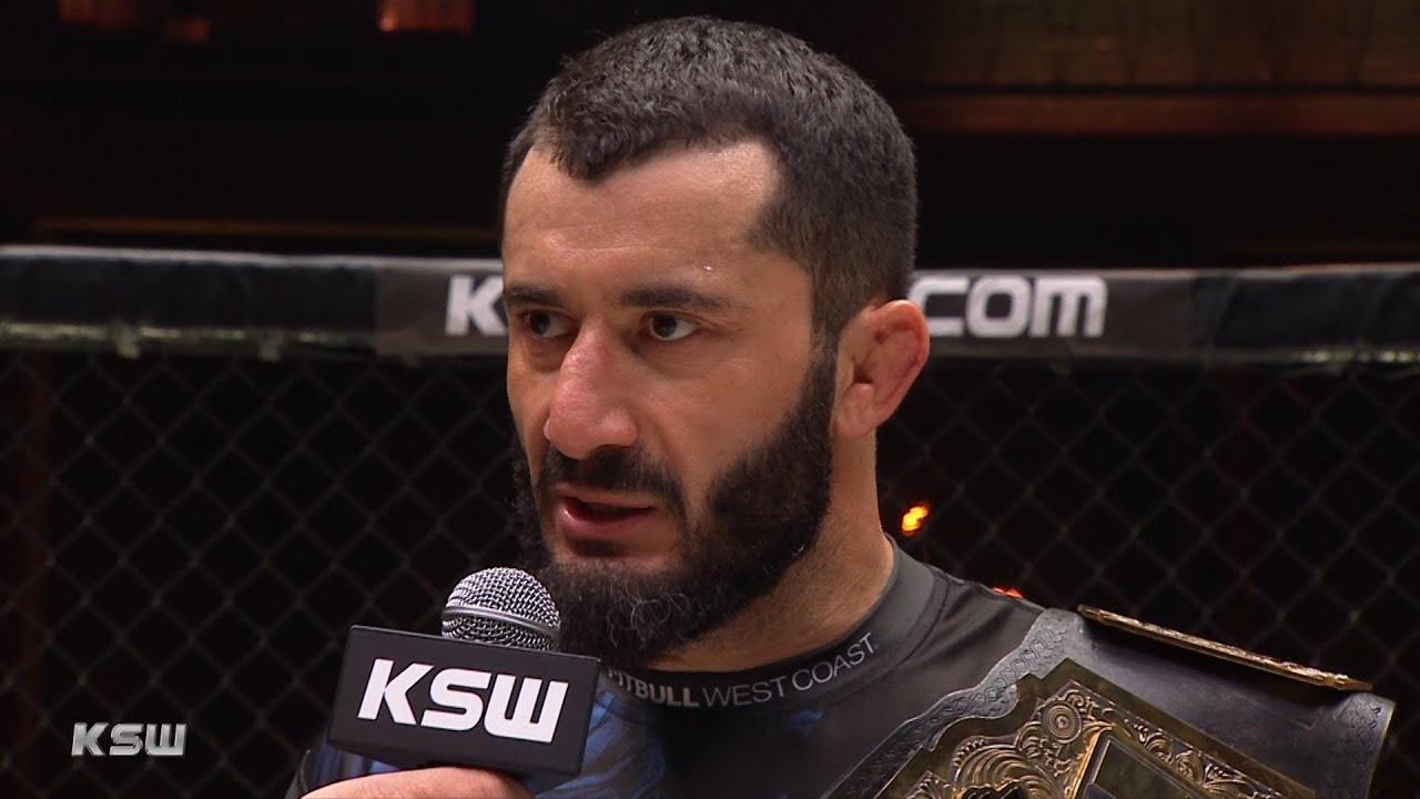 Download KSW 55: Mamed Khalidov spektakularnie nokautuje Askhama - Wywiad w klatce