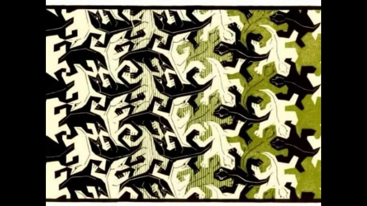 M c escher metamorphose ii youtube for Escher metamorfosi