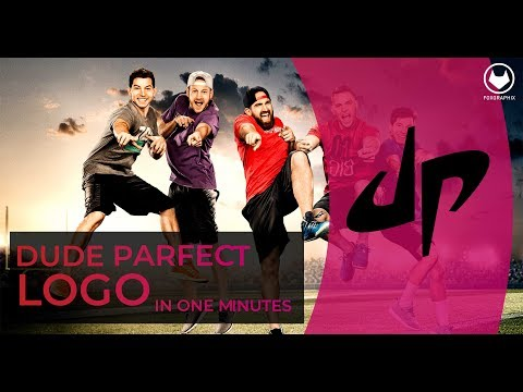 How to make Dude Perfect Logo || Dude Perfect logo design within 2 minutes