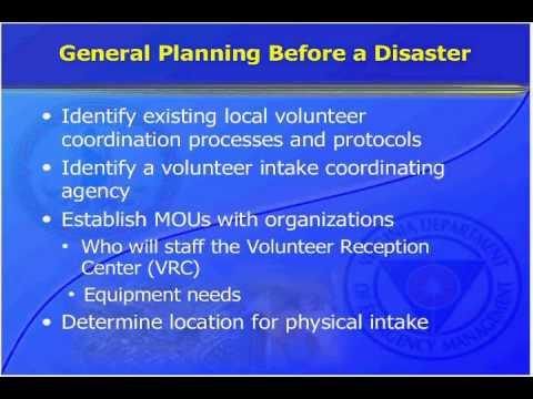 Managing Spontaneous Unaffiliated Volunteers in Disasters