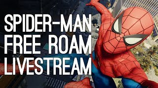 SPIDER-MAN PS4 LIVE: (No Story Spoilers) 2 Hours Free Roam & Side Missions Gameplay w/ Outside Xtra