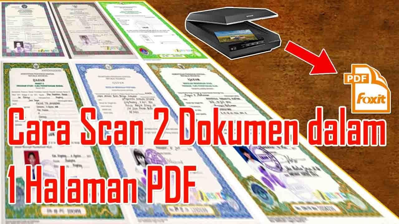 Cara Scan 2 Dokumen Menjadi 1 File Pdf Dengan Printer Mp287 Youtube