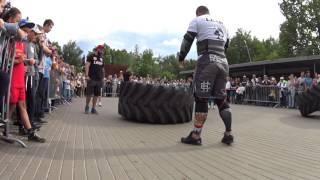 Artem Kobanov VS Ruslan Pustovoy. Tire flip 280 kg 6.5 reps + loglift 117 kg.Final