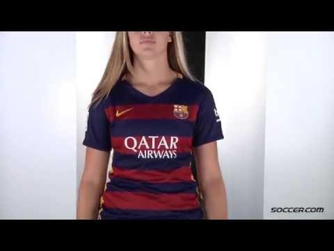 Nike Barcelona Women s Home Jersey 15 16 - YouTube 2d0f038c1f
