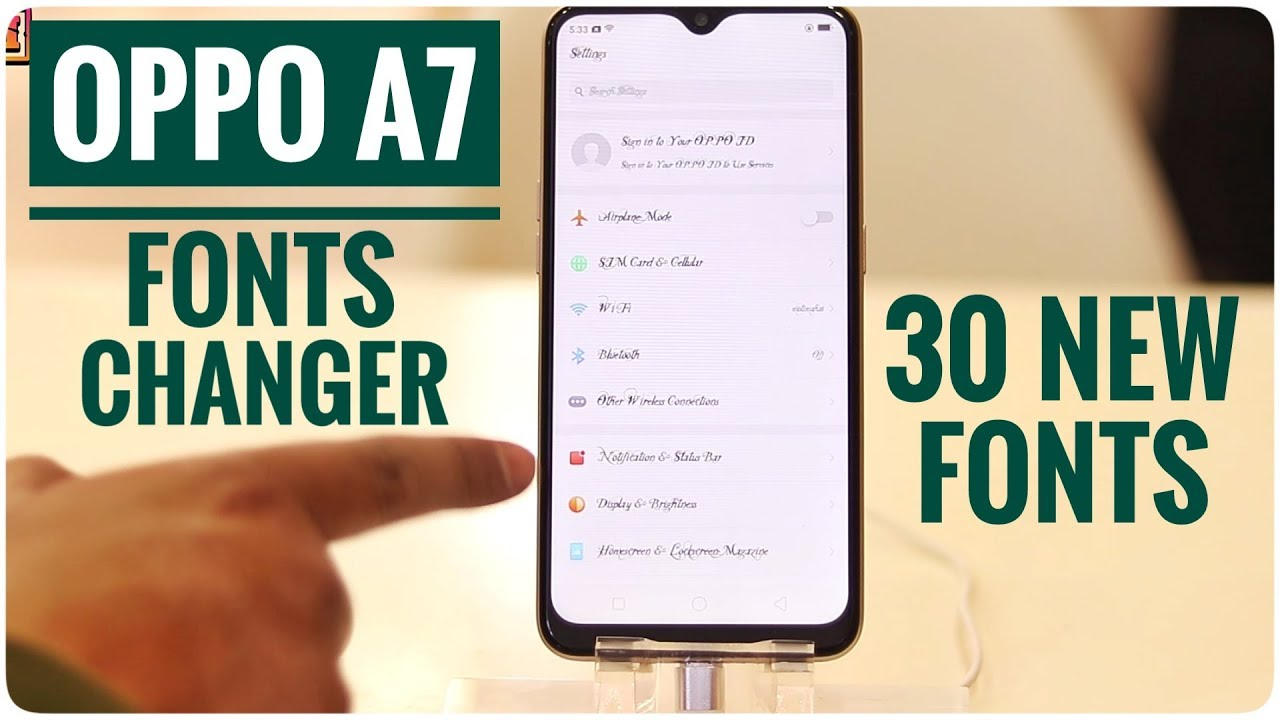Oppo A7 Fonts Changer | Change Fonts in Oppo A7