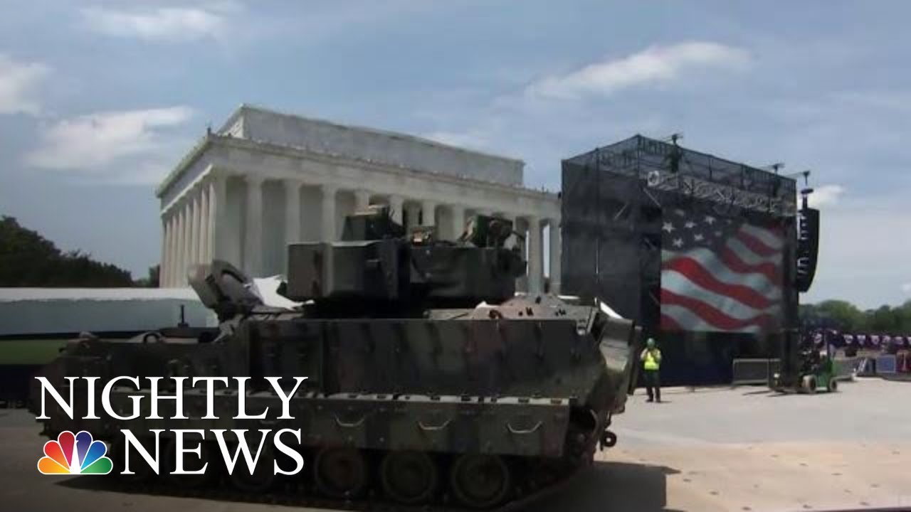 President Donald Trump Facing Backlash Over Cost Of July 4 Celebration | NBC Nightly News
