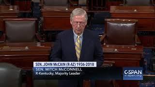 Word for Word: Senate Leaders Honor the Late Sen. John McCain (C-SPAN)