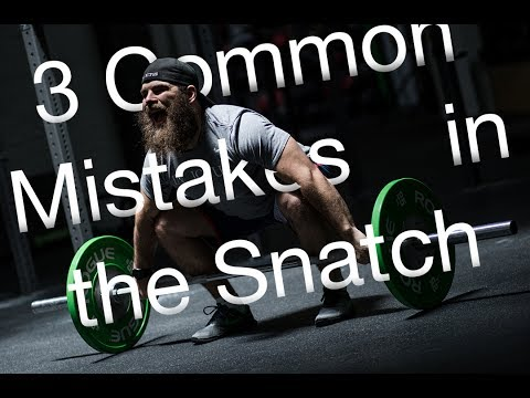 3 Common Mistakes in the Snatch | CrossFit Invictus | Weightlifting