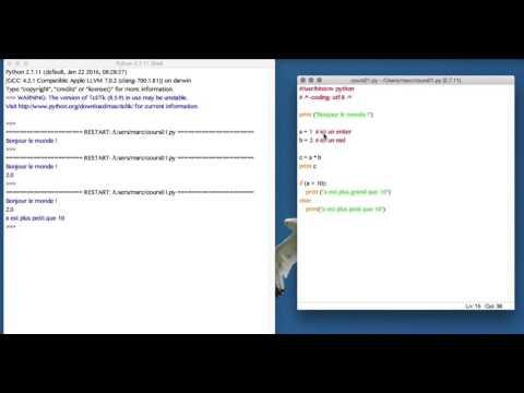 Apprendre le langage de programmation python
