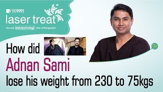 How did Adnan Sami lose his weight from 230 to 75kgs