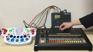 Roland TR-808 + Elektron Digitone + Playtime Engineering blipblox