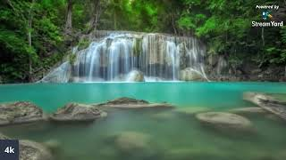 Relaxing Soothing Peaceful Resting Rainfall Waterfall Sounds