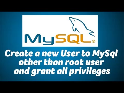 Create new MySQL user for your Database and Grant all privileges