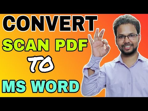 2 Best Method To Convert Scanned PDF File To MS Word | Step By Step Tutorial In Hindi