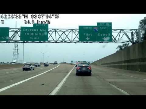 Driving from Southfield, Michigan to Utica, Michigan