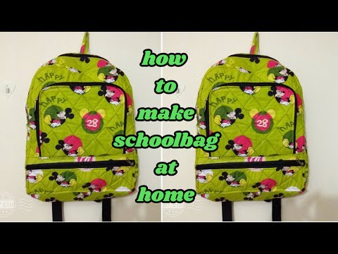 school bag make at home in Hindi/how to make school bag at home/magical hands/