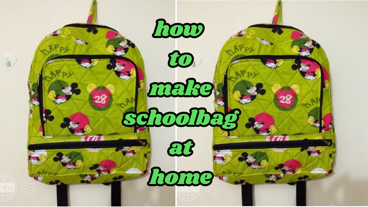 a7f90d4bbe67 school bag make at home in Hindi how to make school bag at home ...