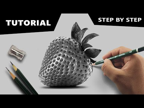 draw-hyperrealistic-strawberry-|-step-by-step-tutorial