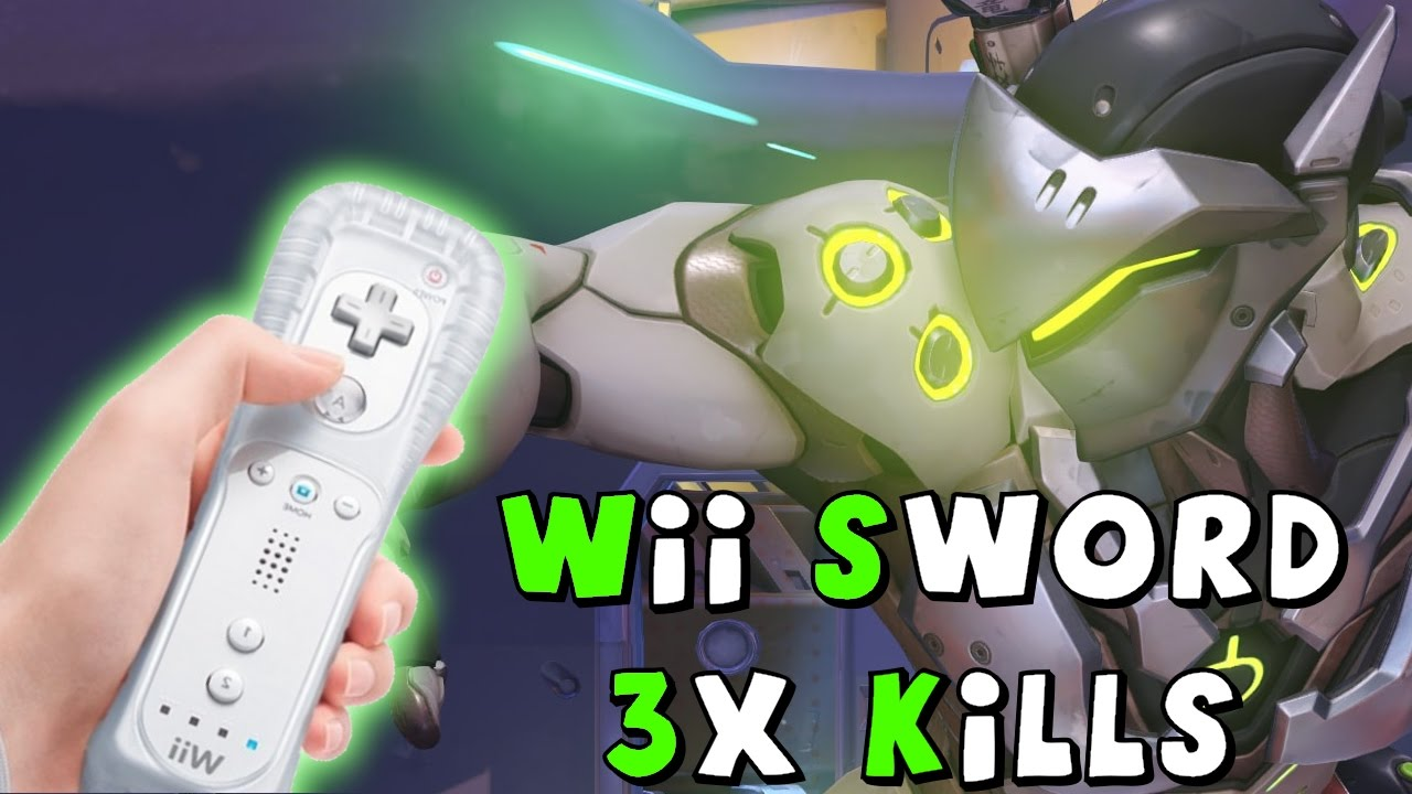 3x genji wii mote sword kills overwatch twitch highlight youtube