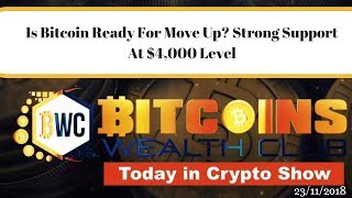 Is Bitcoin Ready For Move Up? Strong Support At $4,000 Level