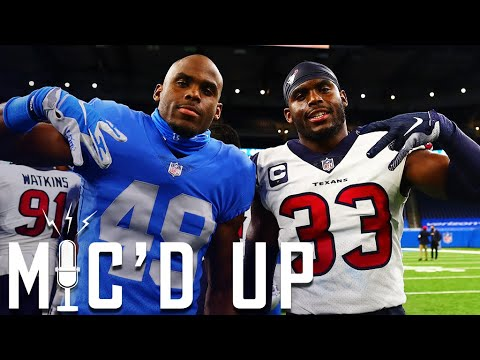 Twin Brothers go head-to-head Mic'd Up for Texans vs. Lions on Thanksgiving Day