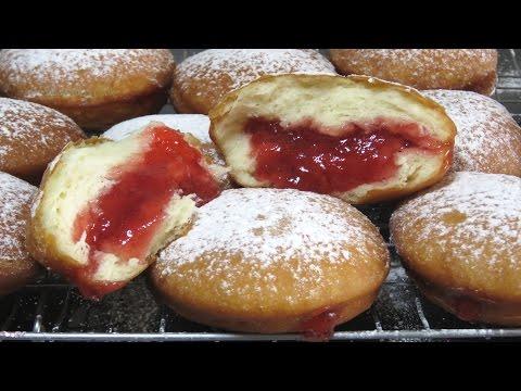Как приготовить ПОНЧИКИ с Начинкой БЕРЛИНЕРЫ #пончики Cách Làm #BánhRán Donuts Recipe