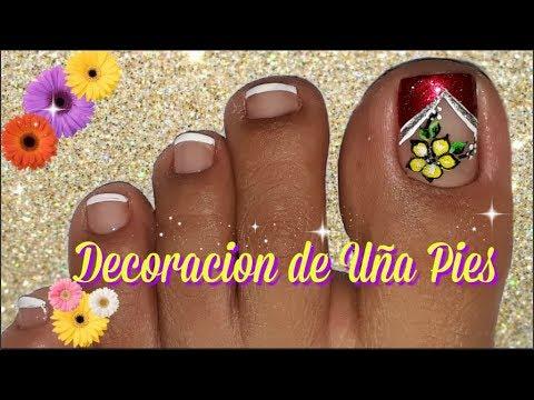 Pedicura Diseño De Uñas Para Principiantes Pedicure Nail Design