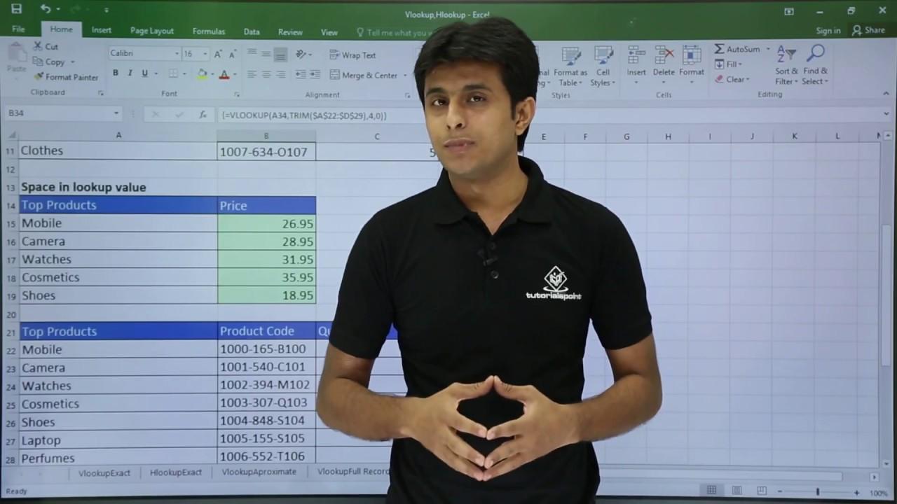 MS Excel – VLookup with Trim