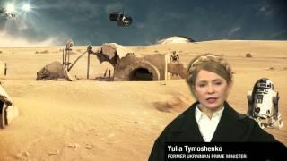 Yulia Tymoshenko as the Ukrainian Princess Leia